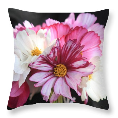 Flowers Throw Pillow featuring the photograph Summer Bouquet by Tiffany Vest