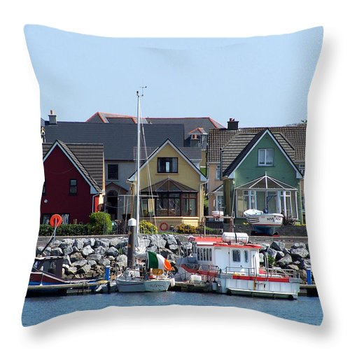 Irish Throw Pillow featuring the photograph Summer Cottages Dingle Ireland by Teresa Mucha