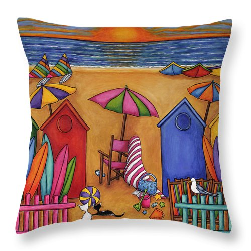 Summer Throw Pillow featuring the painting Summer Delight by Lisa Lorenz