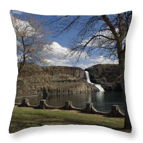 Summer Throw Pillow featuring the photograph Summer Falls by Idaho Scenic Images Linda Lantzy