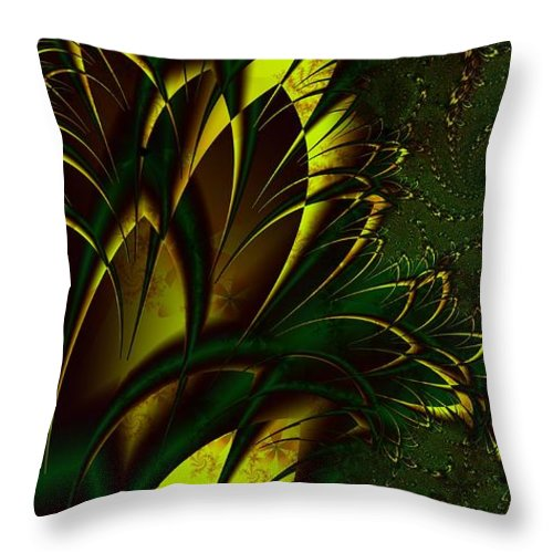 Digital Art Throw Pillow featuring the digital art Summer Frenzy by Amanda Moore
