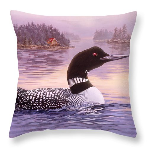 Common Throw Pillow featuring the painting Summer Haze by Richard De Wolfe