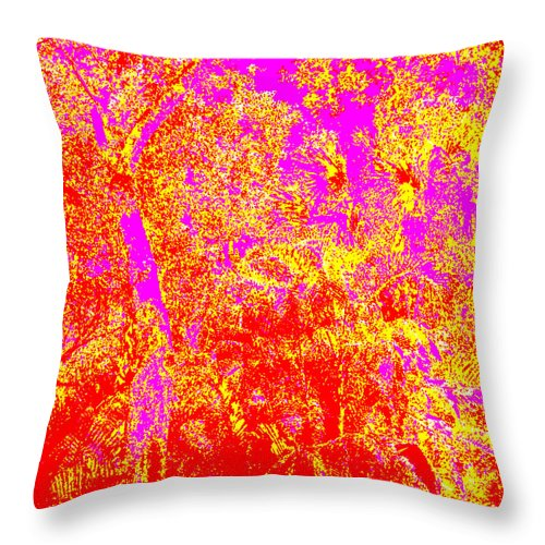 Square Throw Pillow featuring the digital art Summer Heat by Eikoni Images