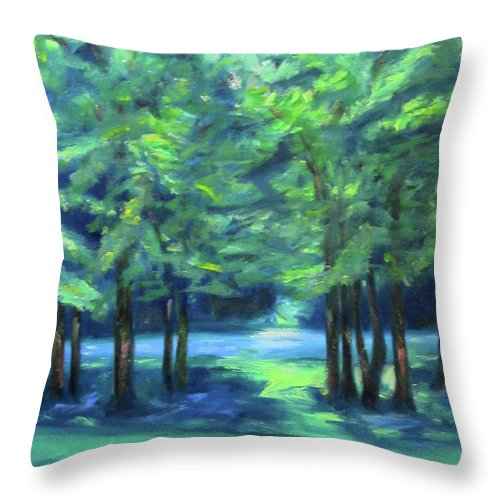 Art Throw Pillow featuring the painting Summer by Karen Francis
