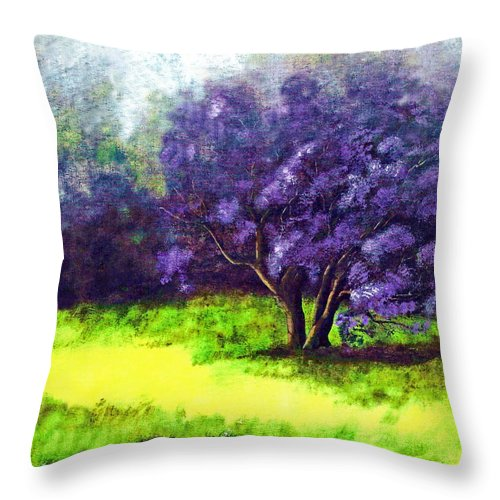 Fine Art Print Throw Pillow featuring the painting Summer Mist by Patricia Griffin Brett