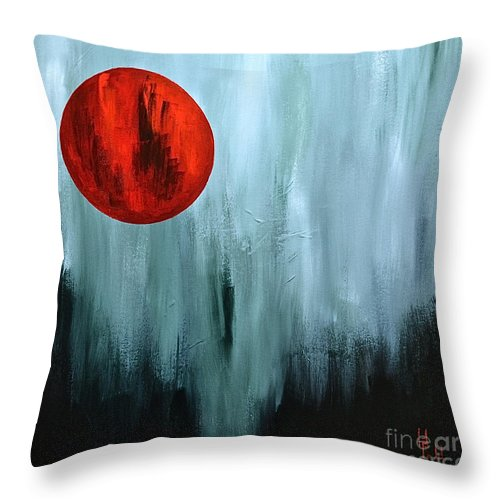 Abstracts By Herschel Fall Throw Pillow featuring the painting Summer Morning Sunrise by Herschel Fall