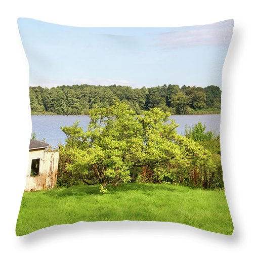 Grasten Throw Pillow featuring the photograph Summer Palace 1 by Bernard Barcos