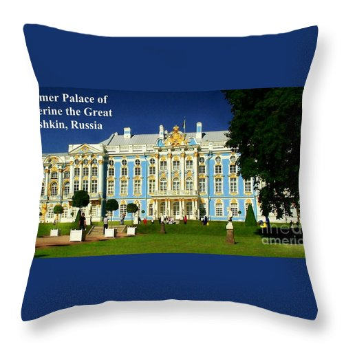 Summer Palace Throw Pillow featuring the photograph Summer Palace Of Catherine The Great by James Carr