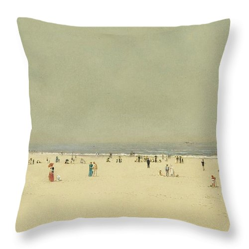 John Atkinson Grimshaw 1836-1893 Sand Throw Pillow featuring the painting Summer Phantasy by John Atkinson