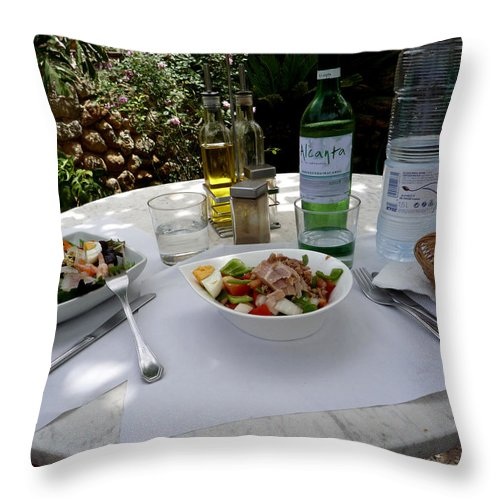 Lunch Throw Pillow featuring the photograph Summer Salad by Charles Stuart