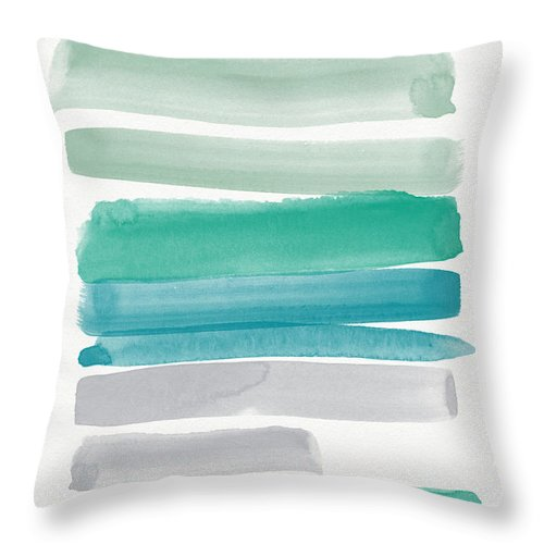 Abstract Sky Throw Pillow featuring the painting Summer Sky by Linda Woods