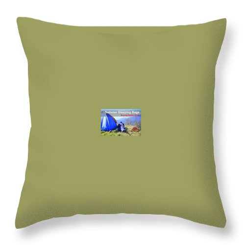 Throw Pillow featuring the photograph Summer Sleeping Bags by Gear Head Junkie