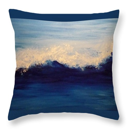 Throw Pillow featuring the painting Summer Wave by Lizzy Forrester