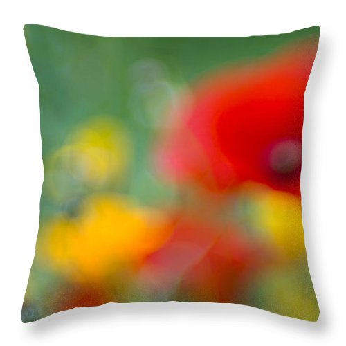 Flowers Throw Pillow featuring the photograph Summerfeeling by Silke Magino