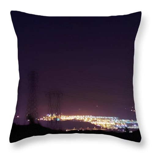 Clay Throw Pillow featuring the photograph Summer's Night In The Valley by Clayton Bruster