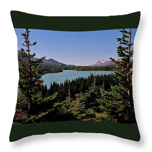 North America Throw Pillow featuring the photograph Tagish Lake - Yukon by Juergen Weiss