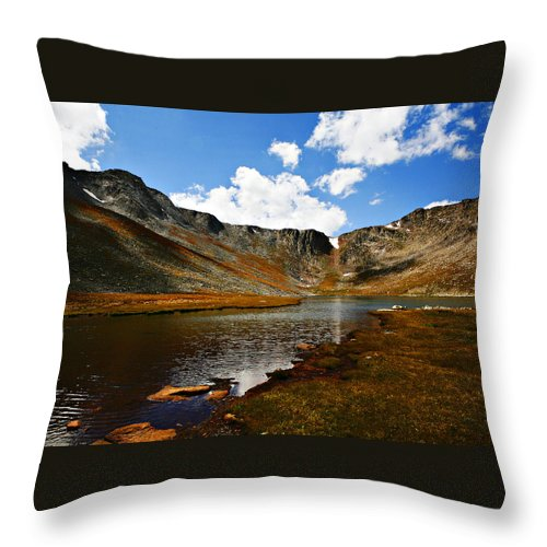 Travel Throw Pillow featuring the photograph Summit Lake Colorado by Marilyn Hunt