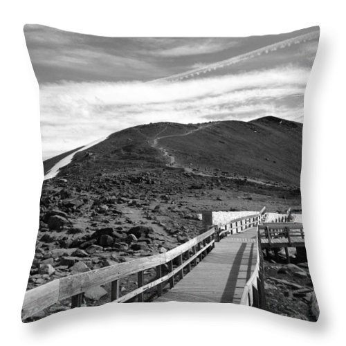 Landscape Throw Pillow featuring the photograph Summit Of Whistlers Mountain by Brittney Norton