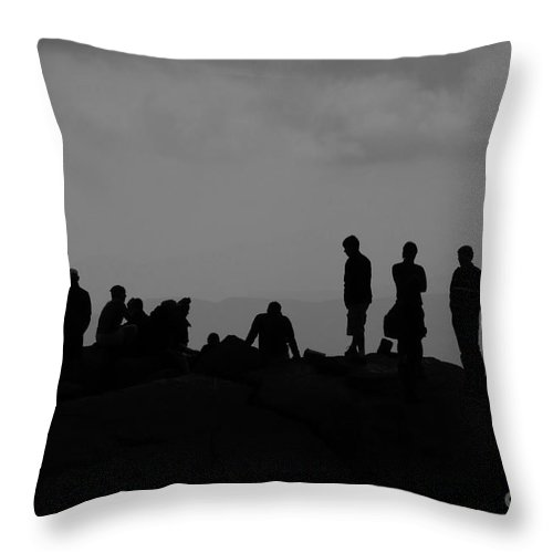 Summit Throw Pillow featuring the photograph Summit People by David Lee Thompson