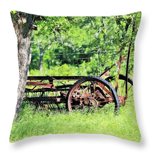Throw Pillow featuring the photograph Sumtin Metal by Jeff Downs