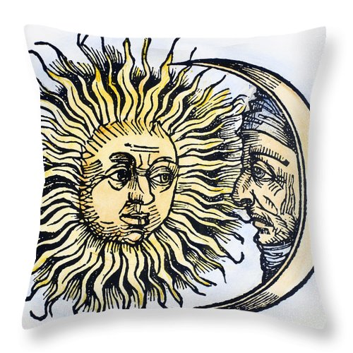1493 Throw Pillow featuring the photograph Sun And Moon, 1493 by Granger