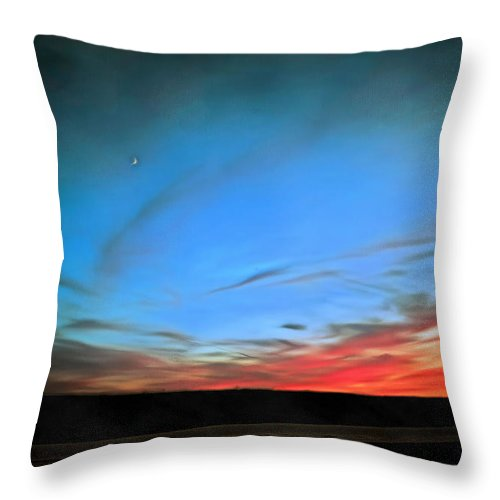 Sun Throw Pillow featuring the painting Sun And Moon by Theresa Campbell