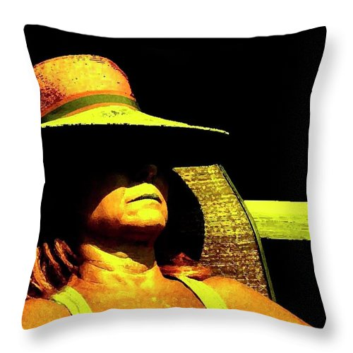 Scenic Throw Pillow featuring the photograph Sun Bathing by Coleman Mattingly