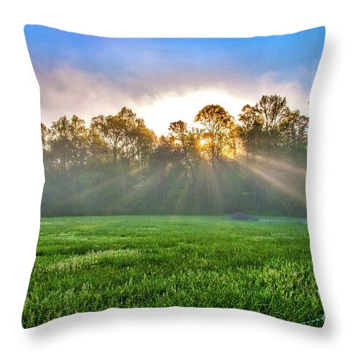 Sunshine Throw Pillow featuring the photograph Sun Beams by Darwin White