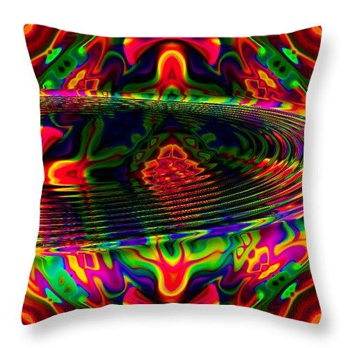 Riple Throw Pillow featuring the digital art Sun Catcher by Robert Orinski