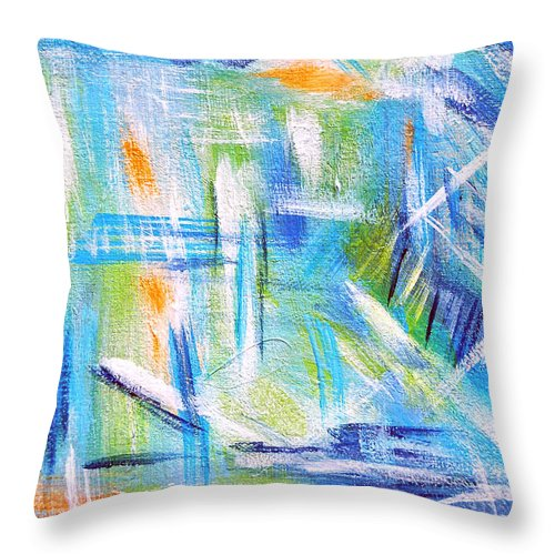 Abstract Throw Pillow featuring the painting Sun Kissed I by Donna Proctor