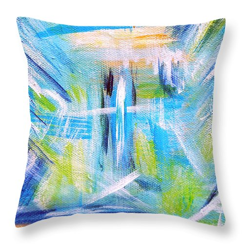 Abstract Throw Pillow featuring the painting Sun Kissed II by Donna Proctor