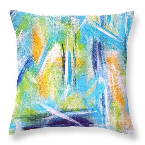 Abstract Throw Pillow featuring the painting Sun Kissed IIi by Donna Proctor