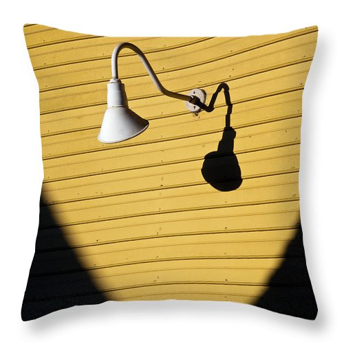 Sunlamp Throw Pillow featuring the photograph Sun Lamp by Dave Bowman