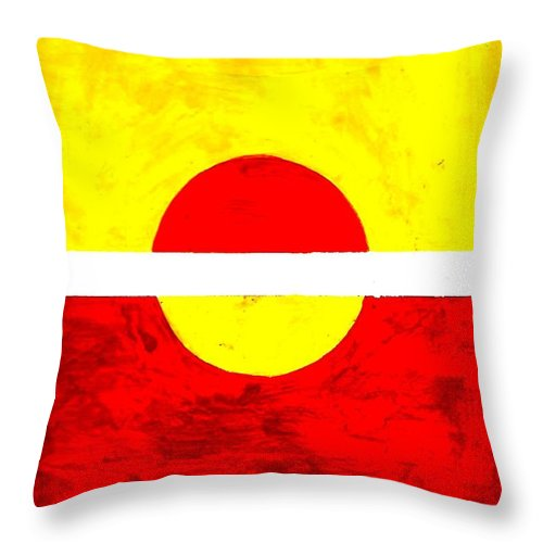 Sun Throw Pillow featuring the painting Sun by Michael Grubb