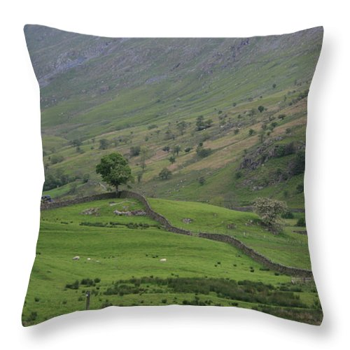 Sun On Mountains Throw Pillow featuring the photograph Sun On The Tops by Andy Mercer