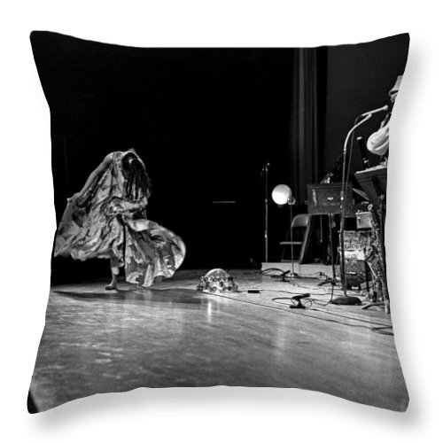 Jazz Throw Pillow featuring the photograph Sun Ra Arkestra At Freeborn Hall by Lee Santa