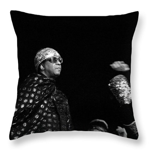 Jazz Throw Pillow featuring the photograph Sun Ra by Lee Santa