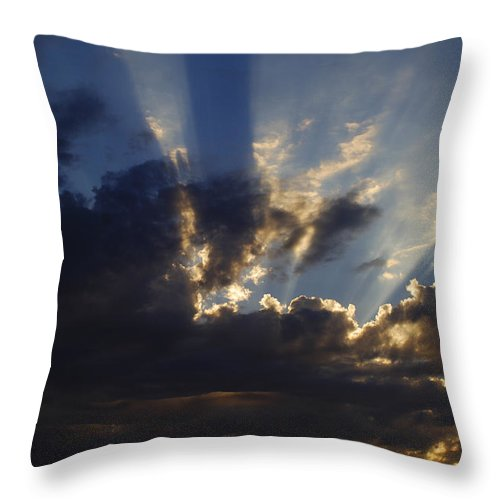 Sunset Throw Pillow featuring the photograph Sun Rays by Jill Reger