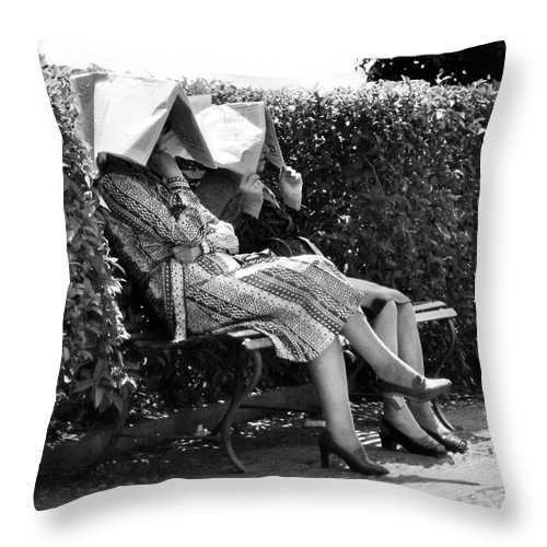 Sun Throw Pillow featuring the photograph Sun-shades by Robert Lacy
