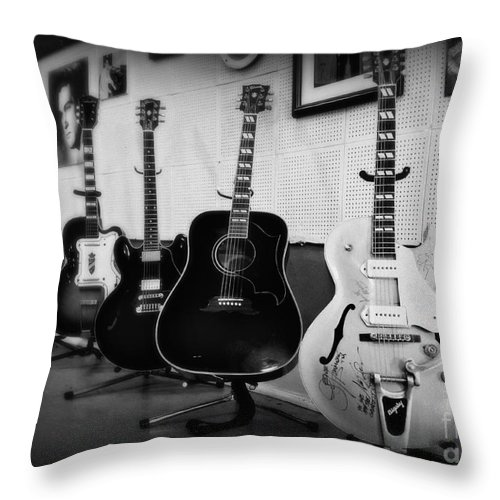 Sun Studio Throw Pillow featuring the photograph Sun Studio Classics 2 by Perry Webster