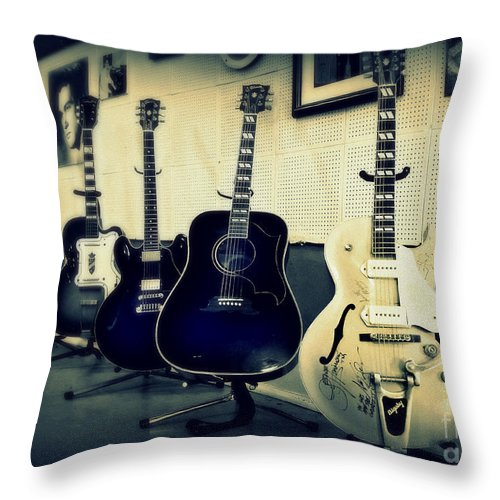 Sun Studio Throw Pillow featuring the photograph Sun Studio Classics by Perry Webster