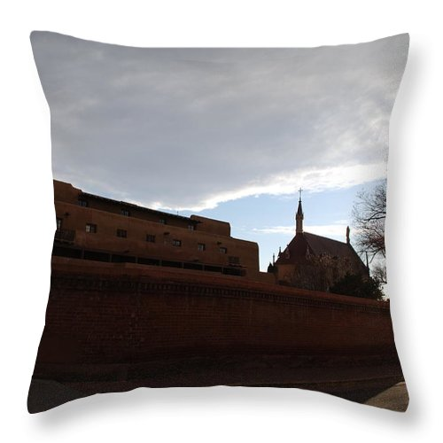 New Mexico Throw Pillow featuring the photograph Sun Thru The Trees by Rob Hans