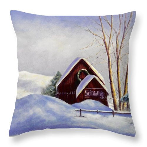 Landscape Throw Pillow featuring the painting Sun Valley 2 by Shannon Grissom