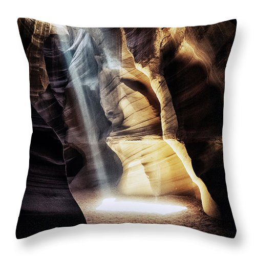 Arizona Throw Pillow featuring the photograph Sunbeam by Robert Fawcett