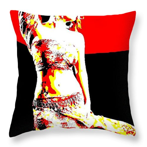 Digital Art Throw Pillow featuring the digital art Sundaram by Piety Dsilva