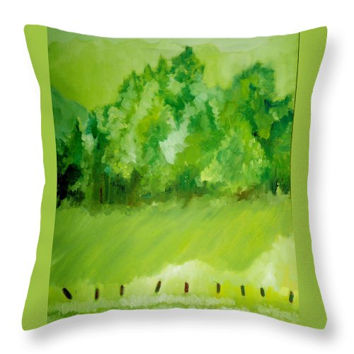 Spring Throw Pillow featuring the painting Sunday At Two Thirty by Seth Weaver