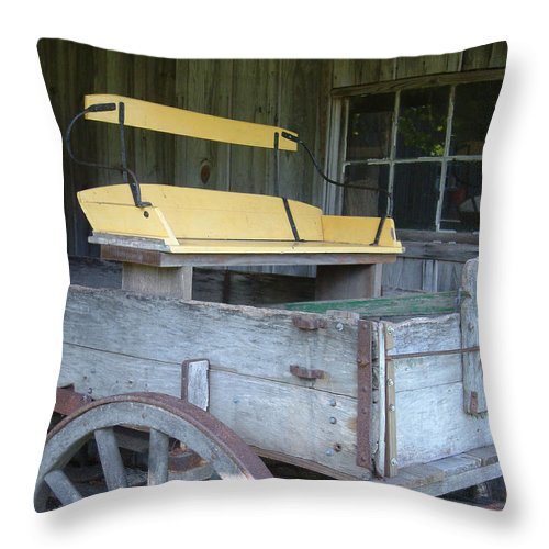Wagon Throw Pillow featuring the photograph Sunday Cruiser by Mark Grayden