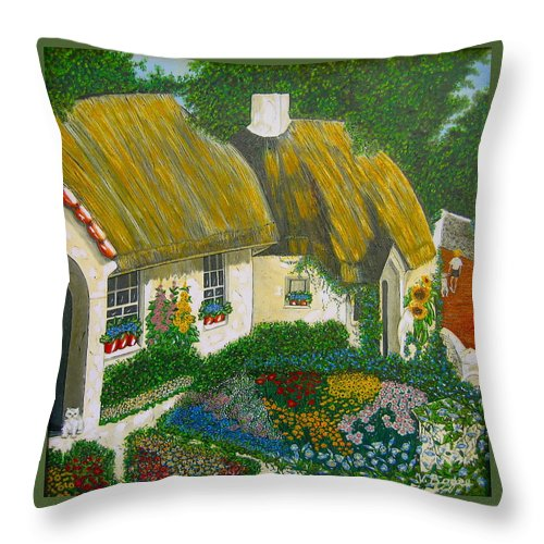 Gardens Throw Pillow featuring the painting Sunday Morning In The Netherlands by V Boge