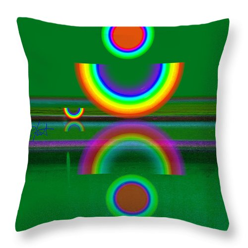 Reflections Throw Pillow featuring the painting Sundown by Charles Stuart