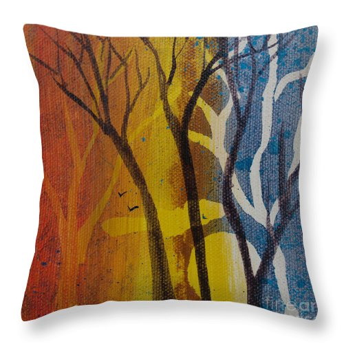 Firm Throw Pillow Inserts : Sundown Through Trees Throw Pillow for Sale by Robin Maria Pedrero - 26